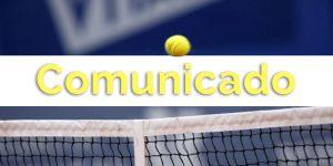 Novo Comunicado à todos os sócios,alunos da escola de ténis e encarregados de educação.